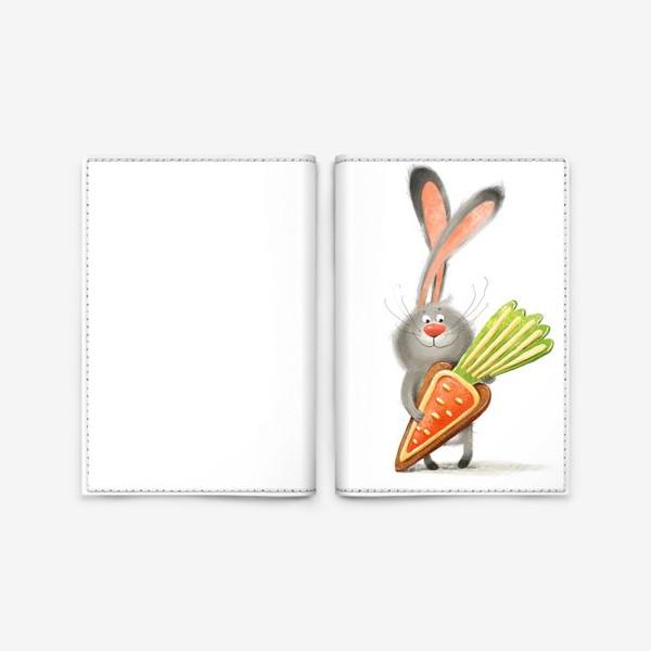 Обложка для паспорта «Зайка с печеньем»