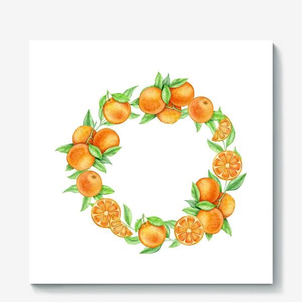 Холст «Апельсиновый венок»