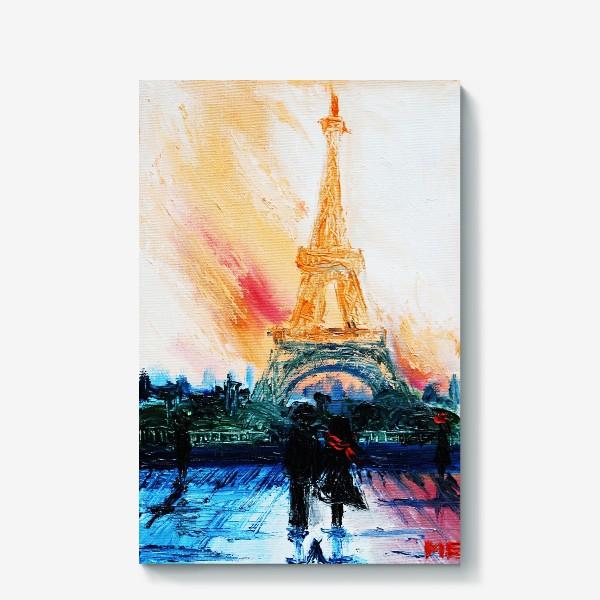 Холст «Утренний Париж»