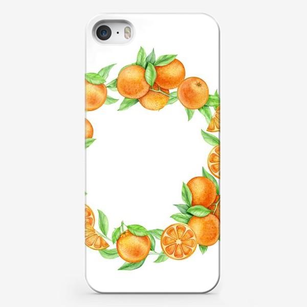 Чехол iPhone «Апельсиновый венок»