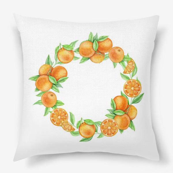 Подушка «Апельсиновый венок»