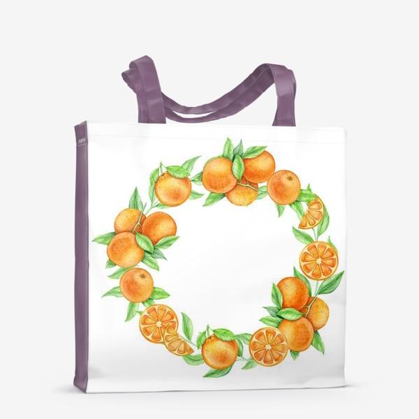 Сумка-шоппер «Апельсиновый венок»