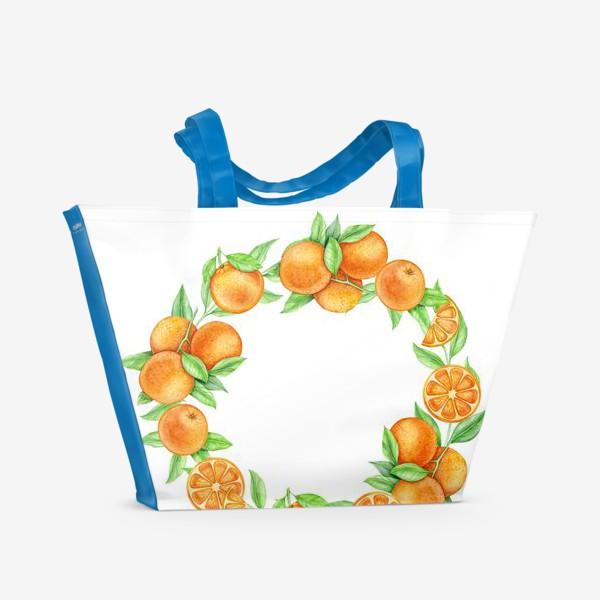 Пляжная сумка «Апельсиновый венок»