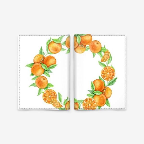 Обложка для паспорта «Апельсиновый венок»