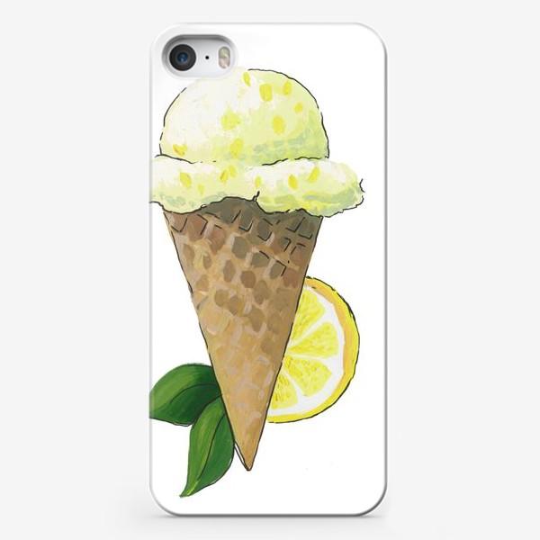 Чехол iPhone «Лимонное Мороженое»