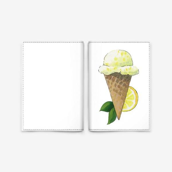 Обложка для паспорта «Лимонное Мороженое»