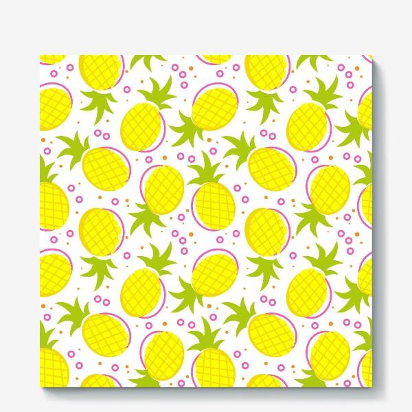 Холст «Озорные ананасы.»