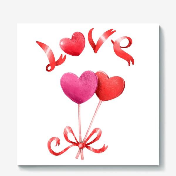 Холст «Леденцовые сердца»
