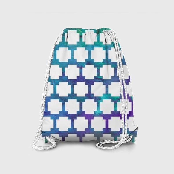 Рюкзак «узор крестиком на акварельном фоне»