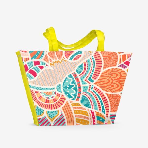 Пляжная сумка «Этнические узоры»