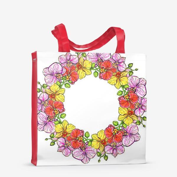 Сумка-шоппер «венок орхидей»