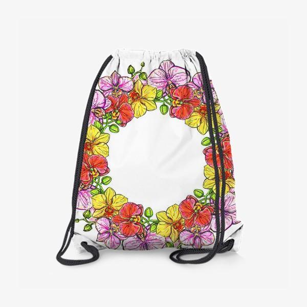 Рюкзак «венок орхидей»