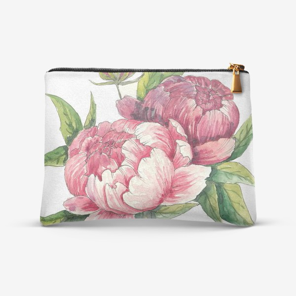 Косметичка «Розовые пионы»