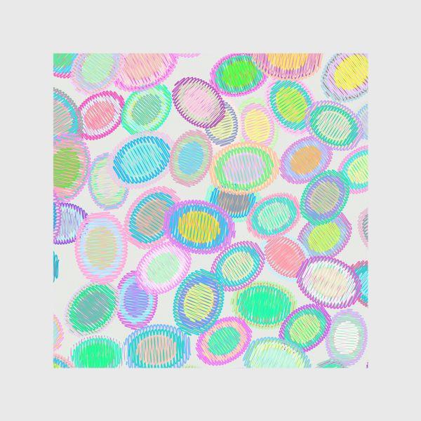 Скатерть «Абстрактные полосатые овалы»