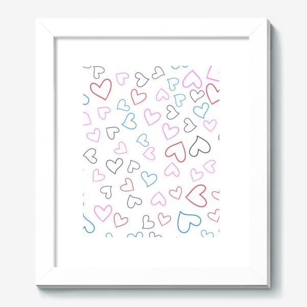Картина «Сердечки разноцветные»