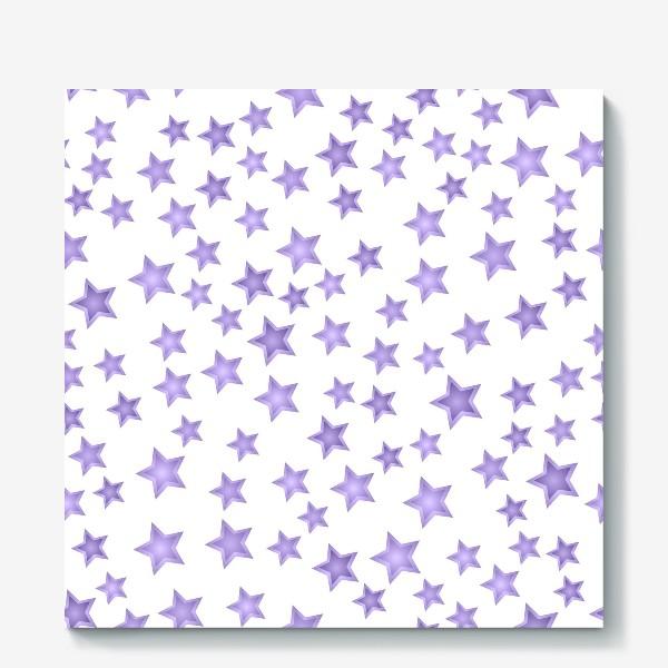 Холст «Фиолетовые звезды»