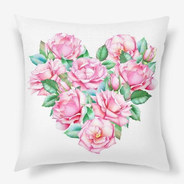 Подушка «Розовое сердце»