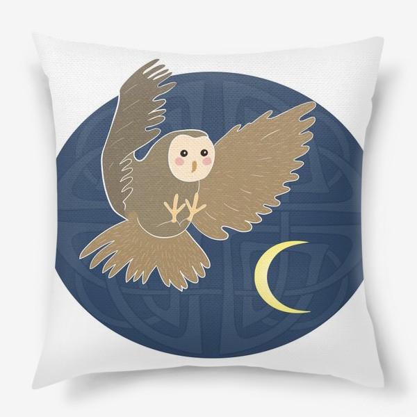 Подушка «Совиная луна»
