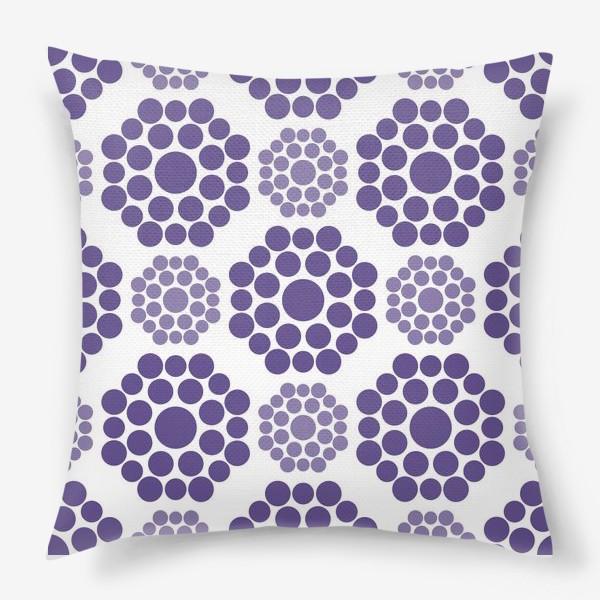 Подушка «Фиолетовые круги»