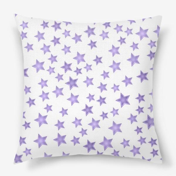 Подушка «Фиолетовые звезды»
