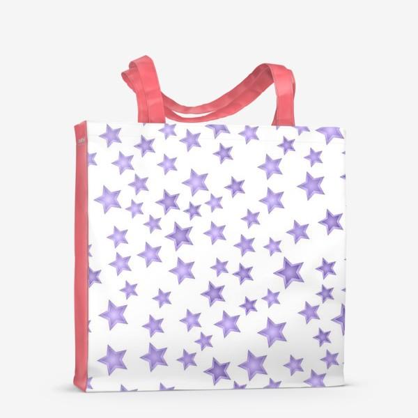 Сумка-шоппер «Фиолетовые звезды»