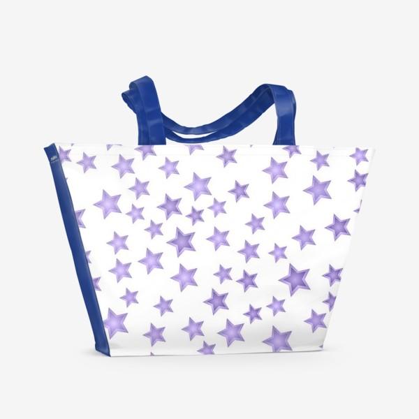 Пляжная сумка «Фиолетовые звезды»