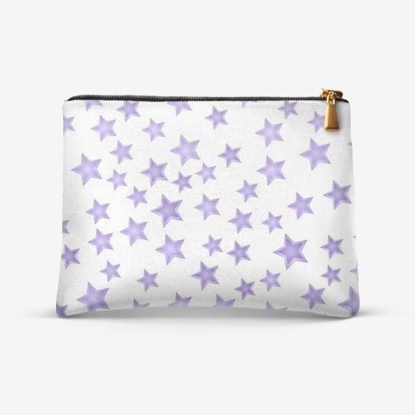 Косметичка «Фиолетовые звезды»