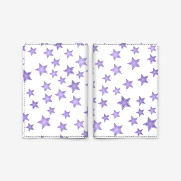 Обложка для паспорта «Фиолетовые звезды»