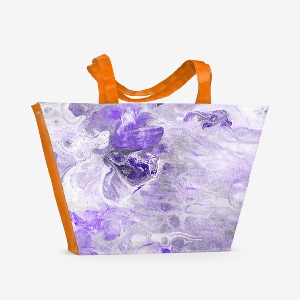 Пляжная сумка «Абстракция жидкий акрил 3»