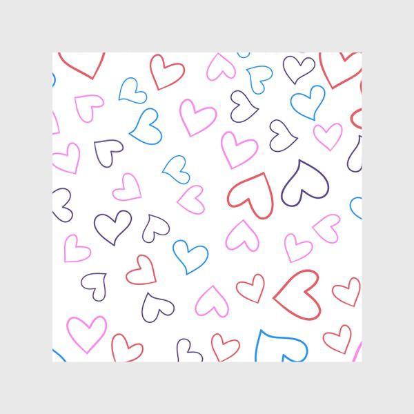 Шторы «Сердечки разноцветные»