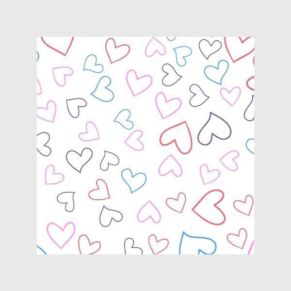 Скатерть «Сердечки разноцветные»