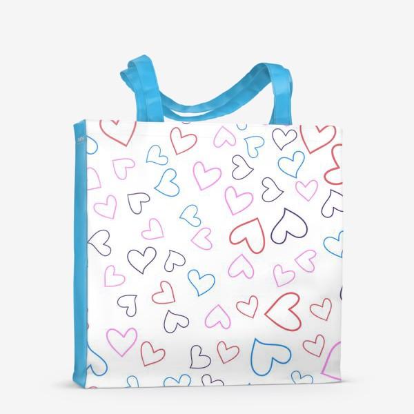 Сумка-шоппер «Сердечки разноцветные»