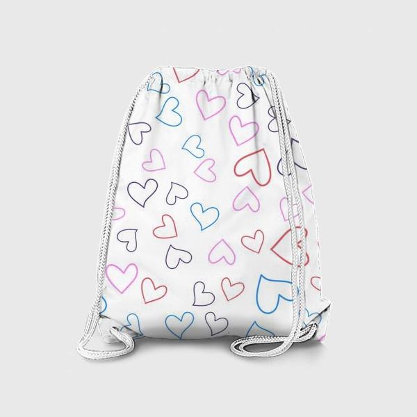 Рюкзак «Сердечки разноцветные»