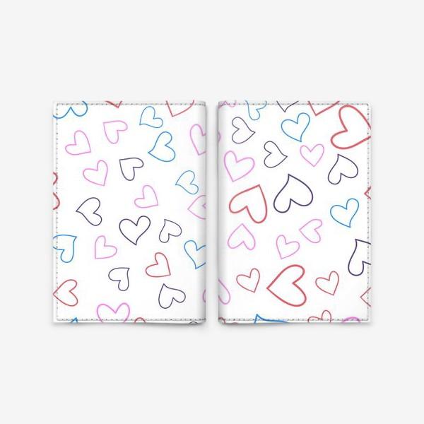 Обложка для паспорта «Сердечки разноцветные»