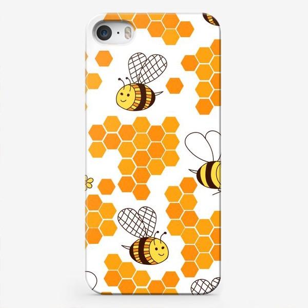 Чехол iPhone «Медовые пчелки»