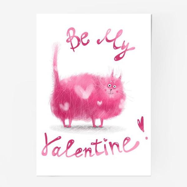 Постер «Розовый кот»