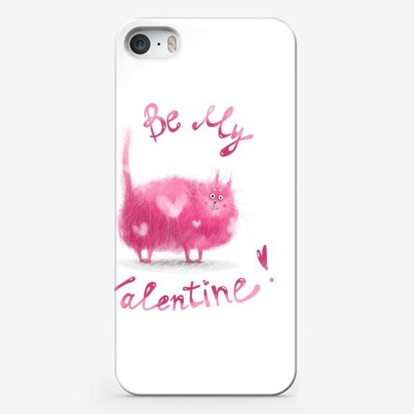 Чехол iPhone «Розовый кот»