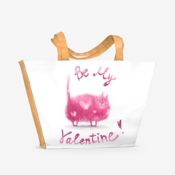 Пляжная сумка «Розовый кот»