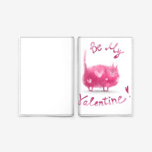 Обложка для паспорта «Розовый кот»