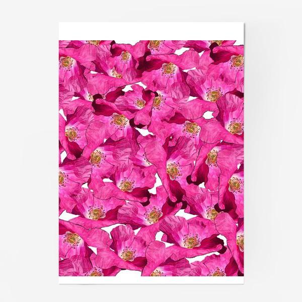 Постер «Цветочный паттерн.Маки.»