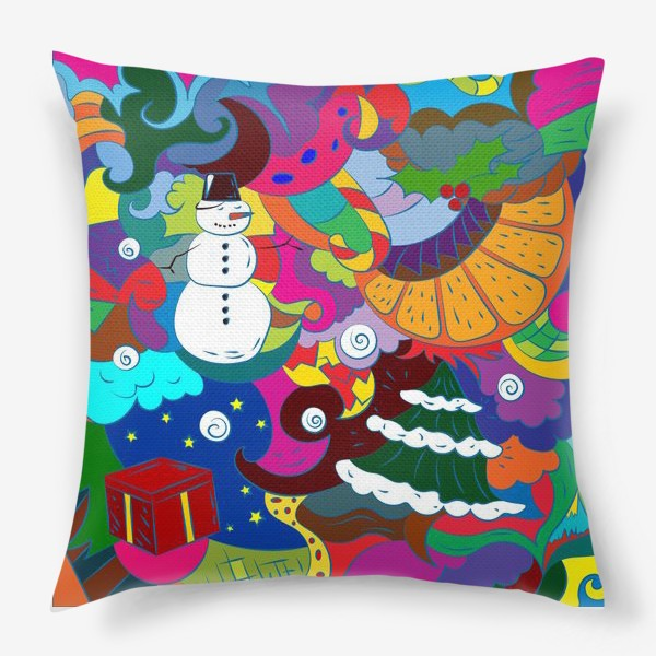 Подушка «Абстрактный фон к Новому году»