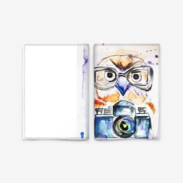 Обложка для паспорта «Сова и фотоаппарат »