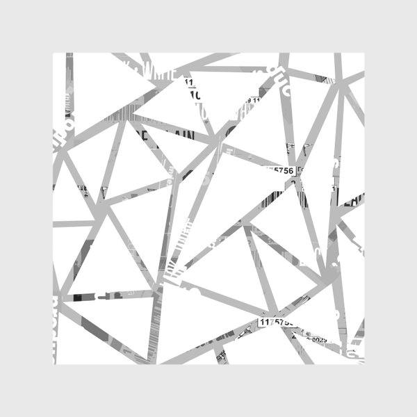 Скатерть «Треугольная структура с шрифтовым коллажем»