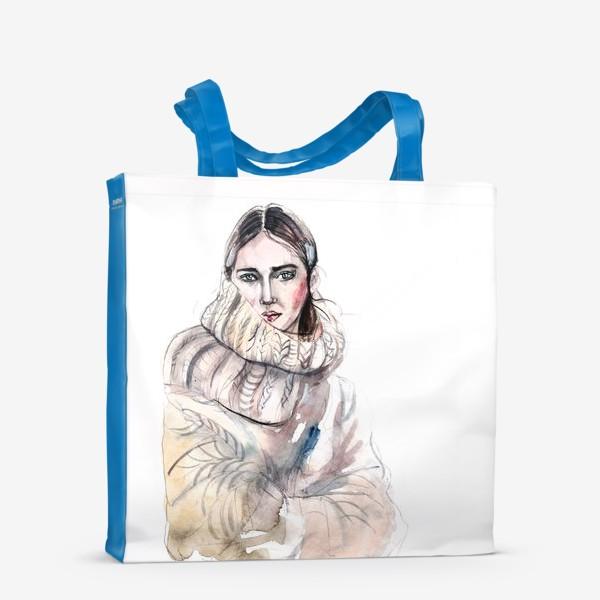 Сумка-шоппер «Девушка в вязаном свитере»