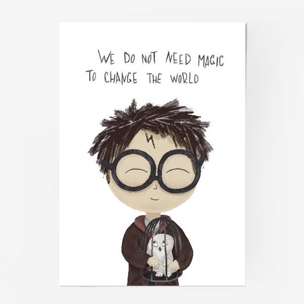 Постер «Гарри Поттер с буклей»