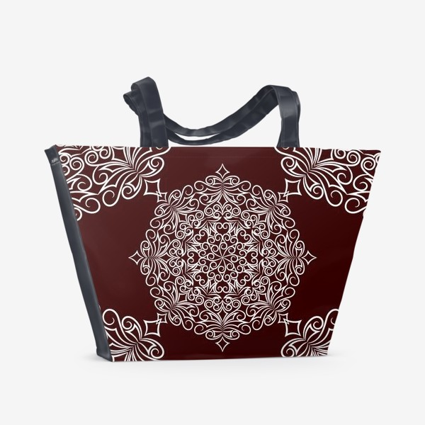 Пляжная сумка «Узор с круговым орнаментом»
