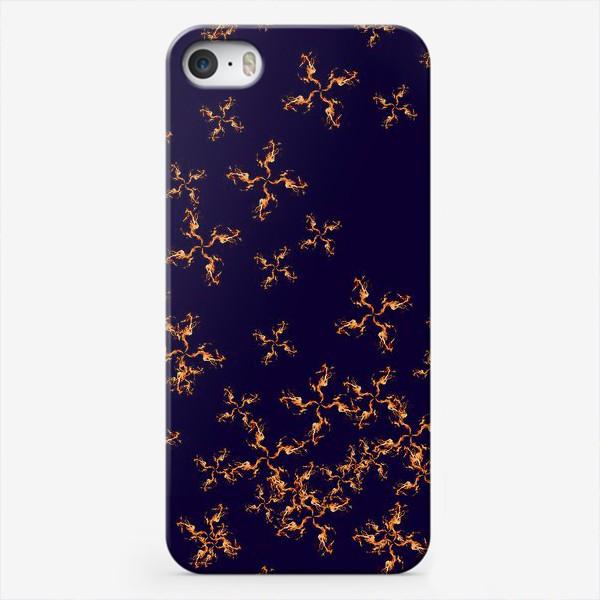 Чехол iPhone «Огонь fire паттерн»