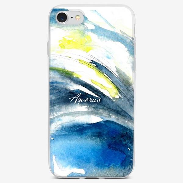 Чехол iPhone «Aquarius. Акварельная абстракция.»