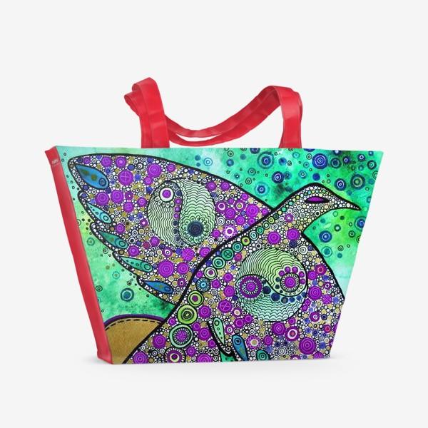 Пляжная сумка «Птица дождя»