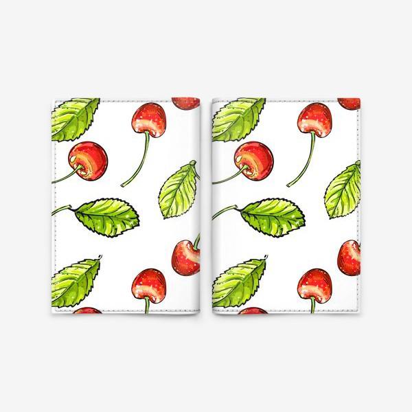 Обложка для паспорта «вишня»